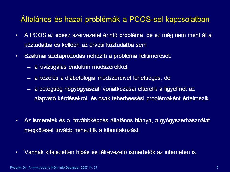 Általános és hazai problémák a PCOS-sel kapcsolatban