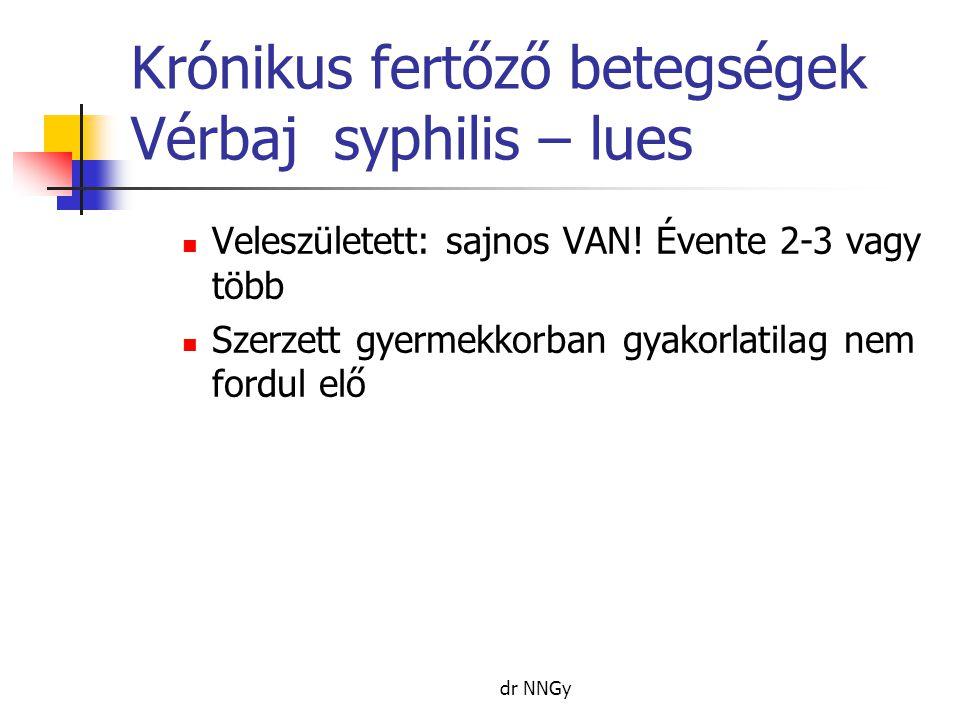 Krónikus fertőző betegségek Vérbaj syphilis – lues