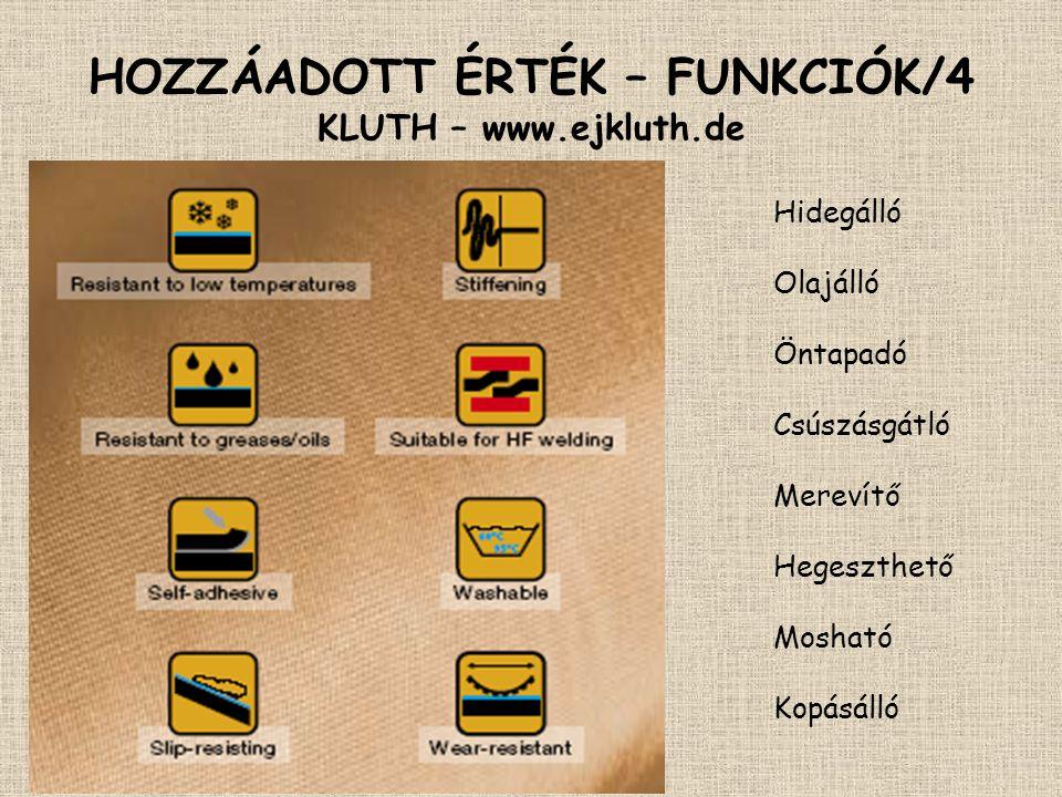 HOZZÁADOTT ÉRTÉK – FUNKCIÓK/4 KLUTH – www.ejkluth.de