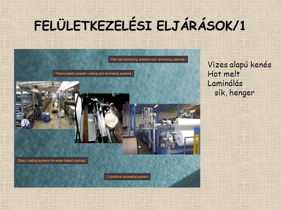 FELÜLETKEZELÉSI ELJÁRÁSOK/1