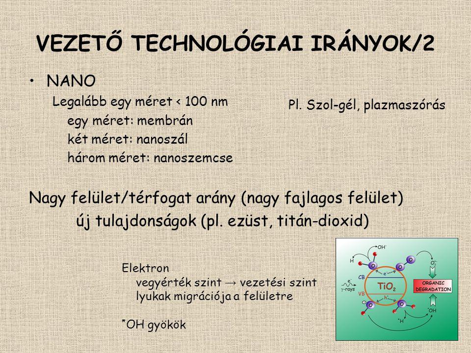 VEZETŐ TECHNOLÓGIAI IRÁNYOK/2