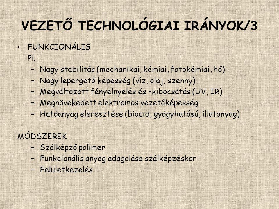 VEZETŐ TECHNOLÓGIAI IRÁNYOK/3