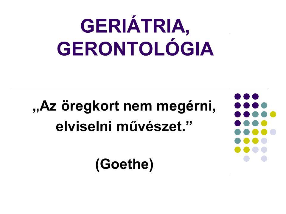 GERIÁTRIA, GERONTOLÓGIA