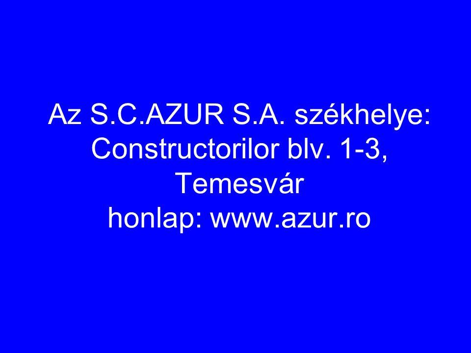 Az S. C. AZUR S. A. székhelye: Constructorilor blv