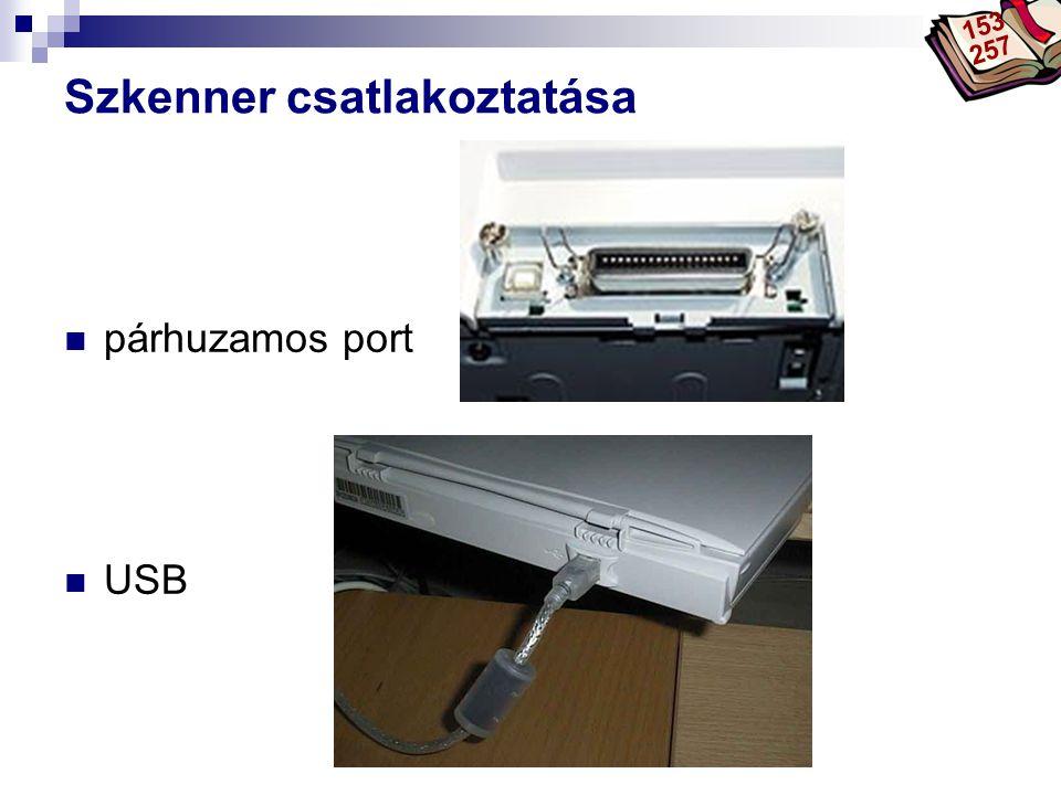 Szkenner csatlakoztatása