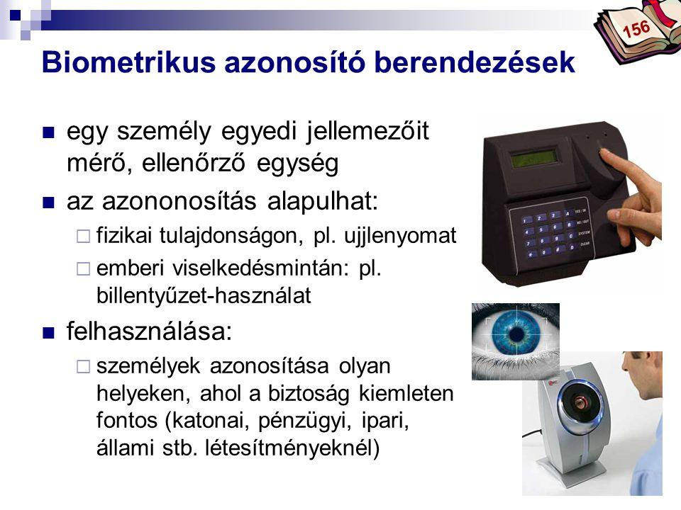 Biometrikus azonosító berendezések
