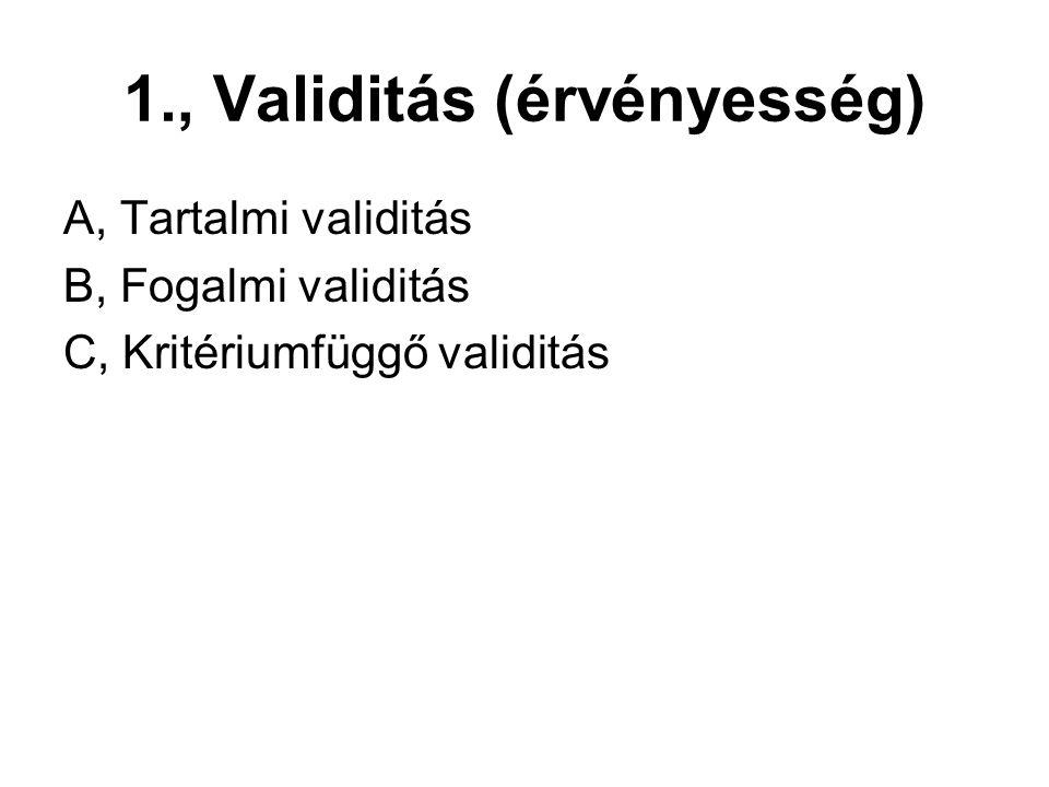 1., Validitás (érvényesség)
