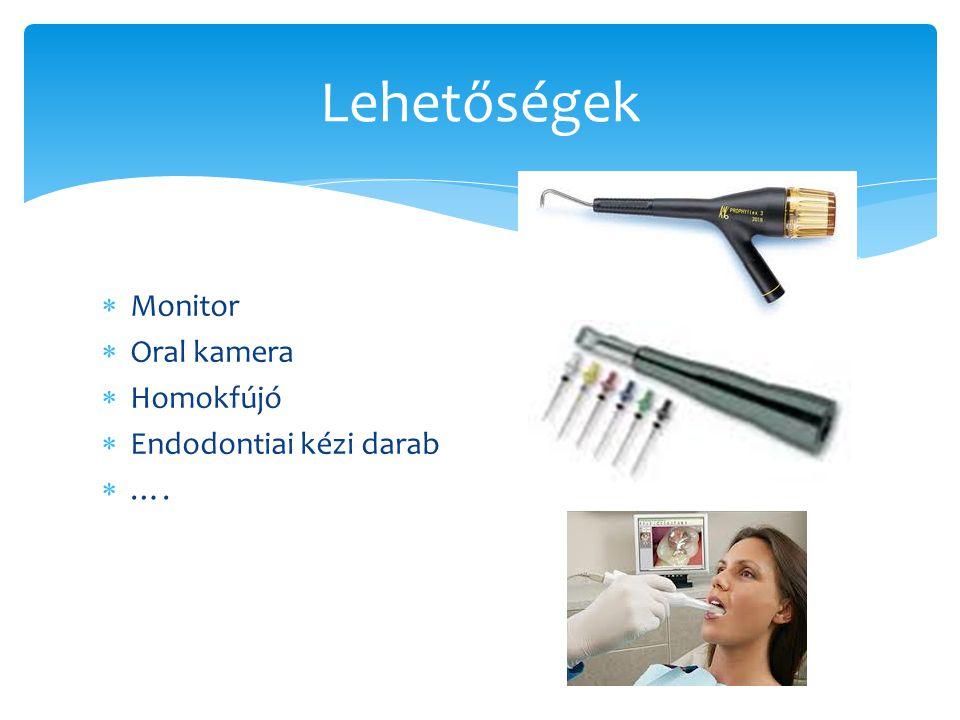 Lehetőségek Monitor Oral kamera Homokfújó Endodontiai kézi darab ….