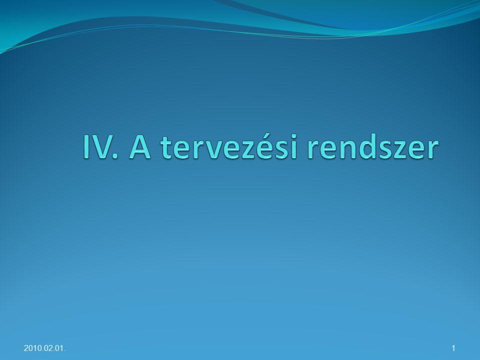IV. A tervezési rendszer