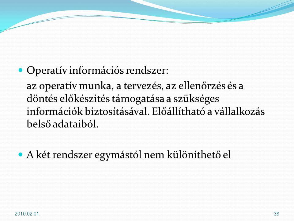 Operatív információs rendszer: