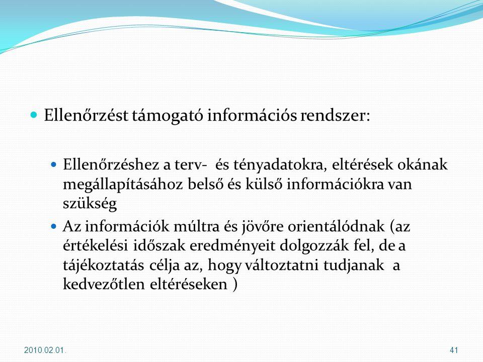Ellenőrzést támogató információs rendszer: