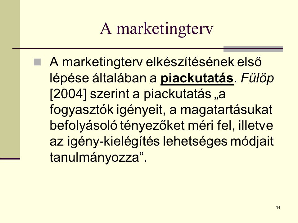 A marketingterv