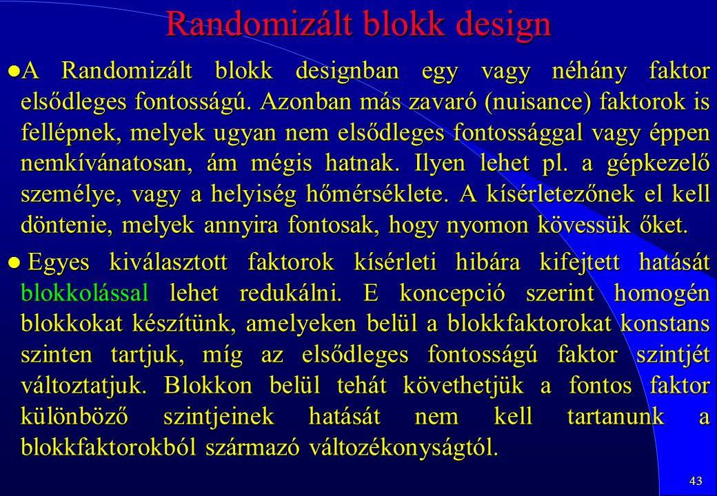 Randomizált blokk design