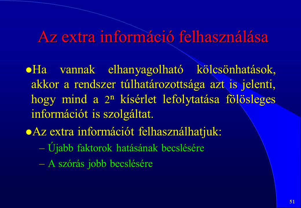 Az extra információ felhasználása
