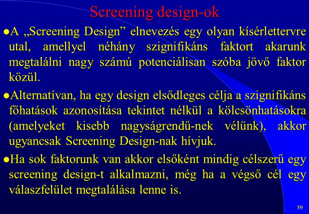 Screening design-ok