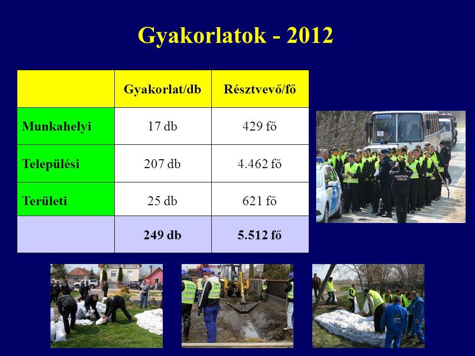 Gyakorlatok - 2012 Települési Munkahelyi Területi 207 db 17 db 25 db