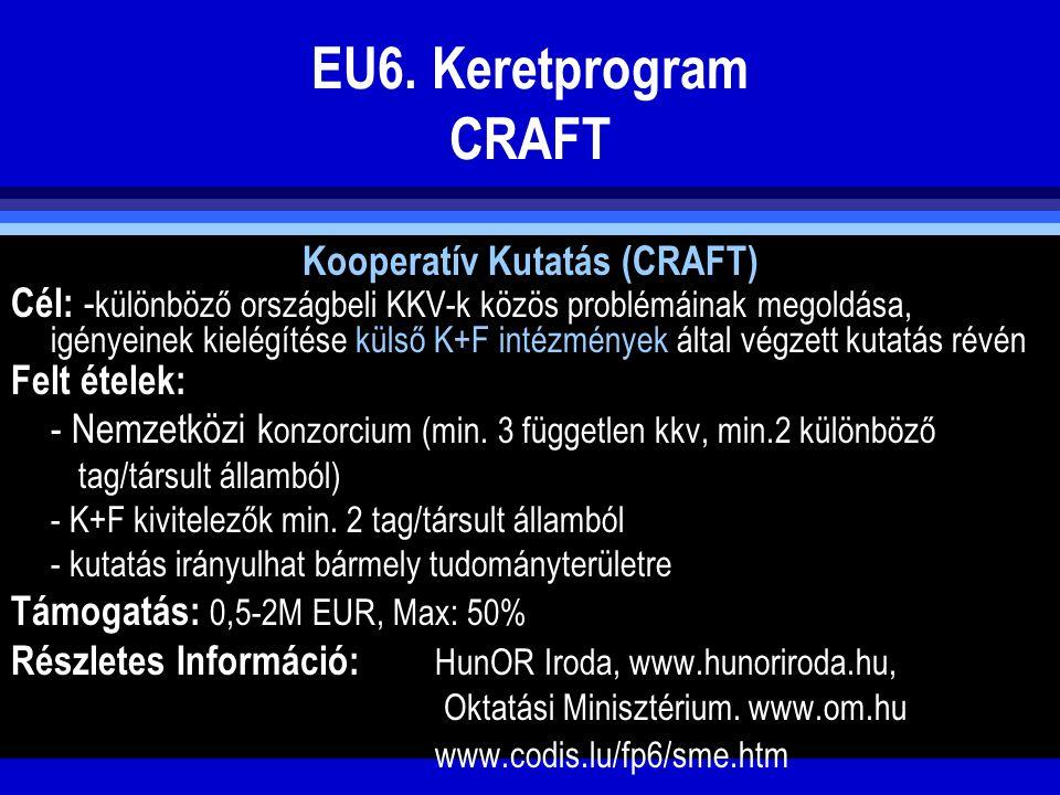 Kooperatív Kutatás (CRAFT)