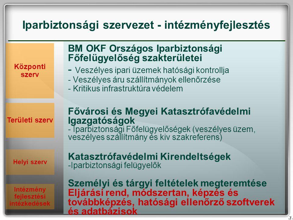 Iparbiztonsági szervezet - intézményfejlesztés