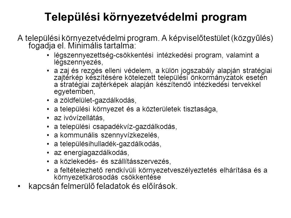 Települési környezetvédelmi program