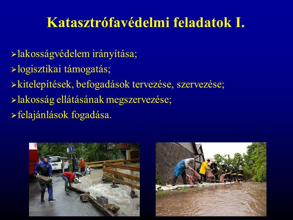 Katasztrófavédelmi feladatok I.