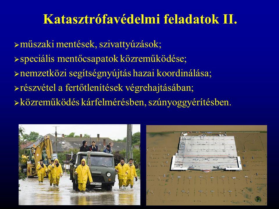 Katasztrófavédelmi feladatok II.