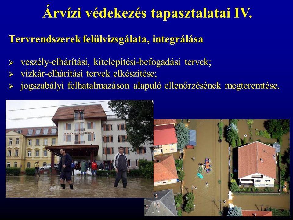 Árvízi védekezés tapasztalatai IV.