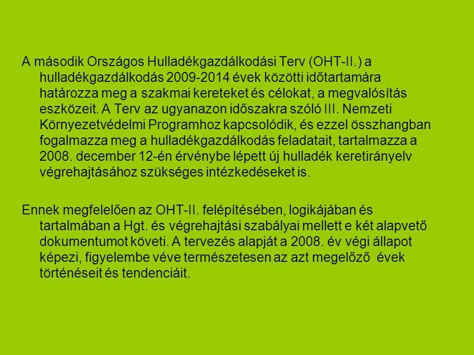 A második Országos Hulladékgazdálkodási Terv (OHT-II