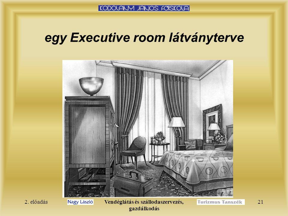 egy Executive room látványterve