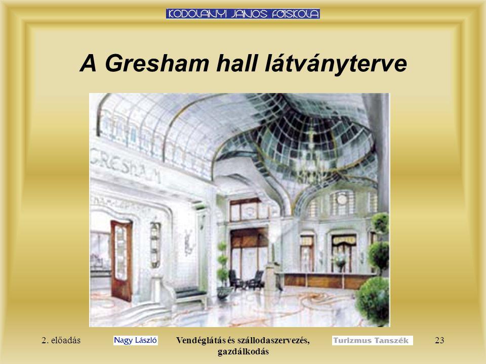 A Gresham hall látványterve
