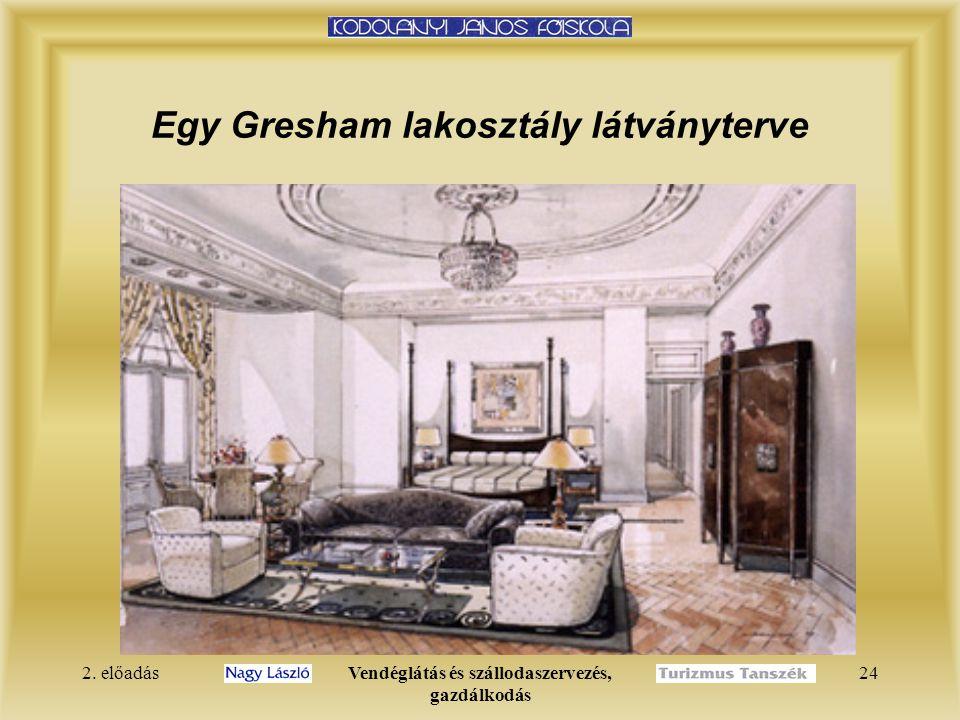 Egy Gresham lakosztály látványterve