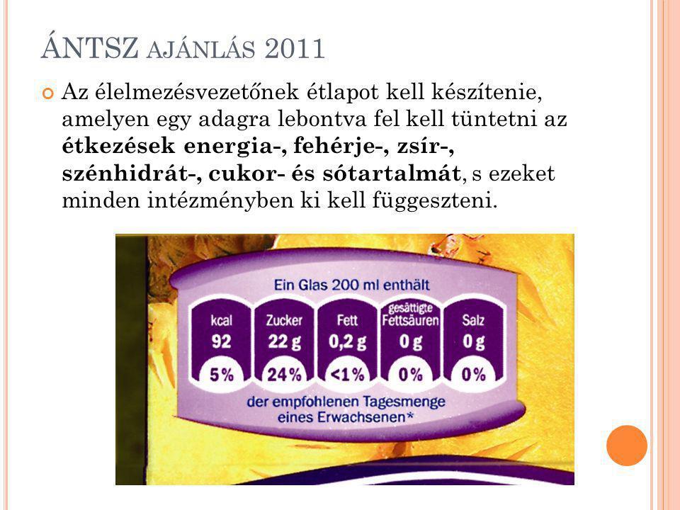 ÁNTSZ ajánlás 2011