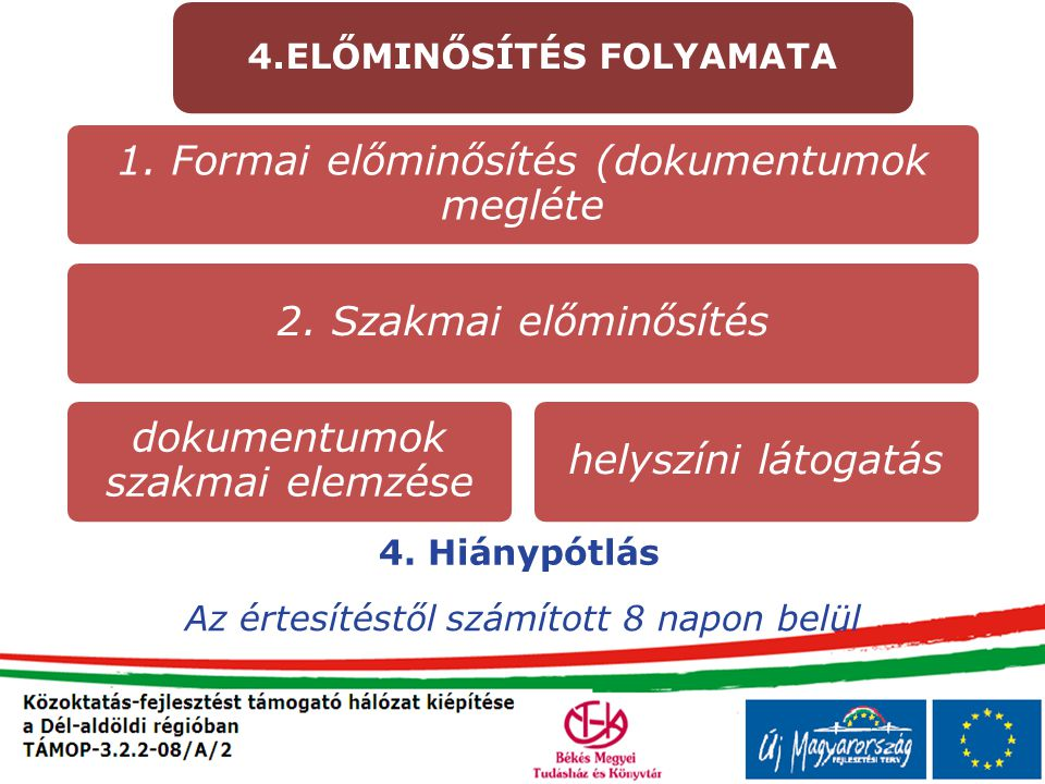 4.ELŐMINŐSÍTÉS FOLYAMATA