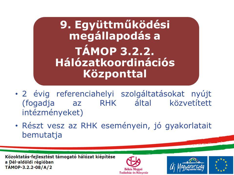 9. Együttműködési megállapodás a
