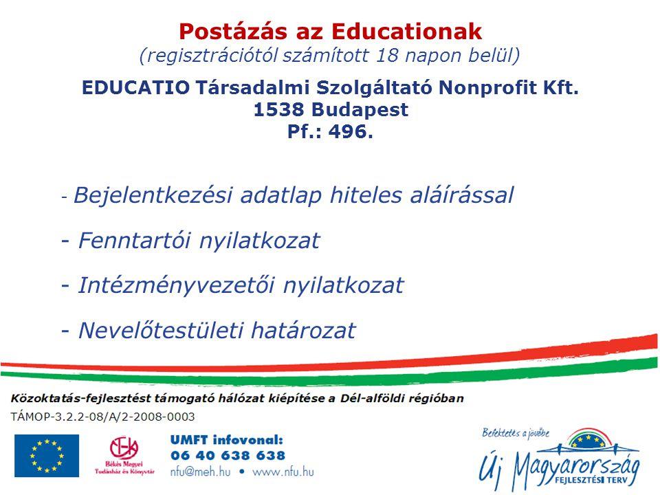 Postázás az Educationak