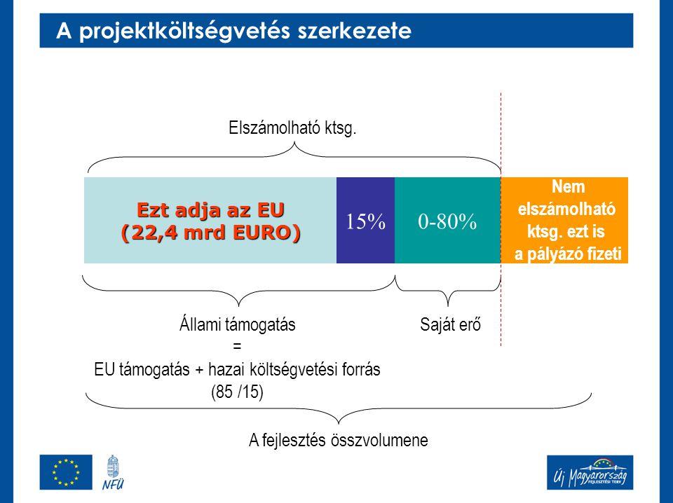 A projektköltségvetés szerkezete