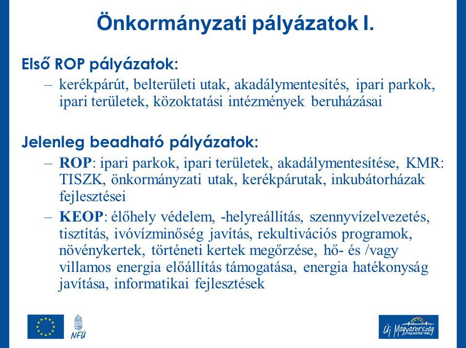 Önkormányzati pályázatok I.
