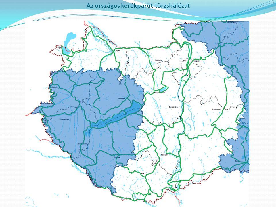 Az országos kerékpárút-törzshálózat