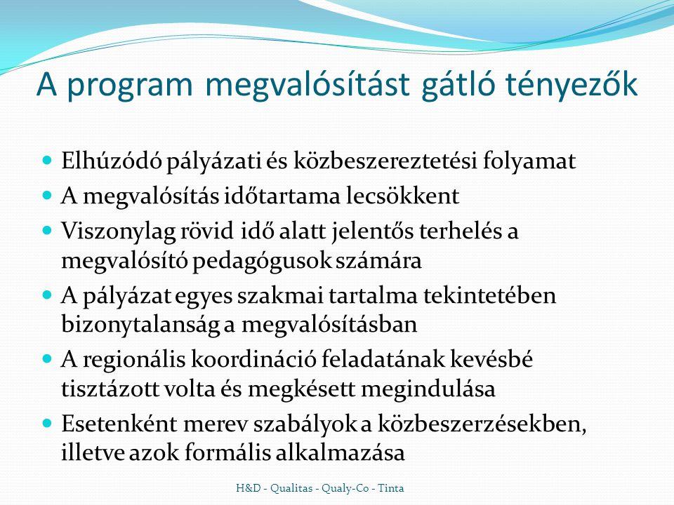 A program megvalósítást gátló tényezők