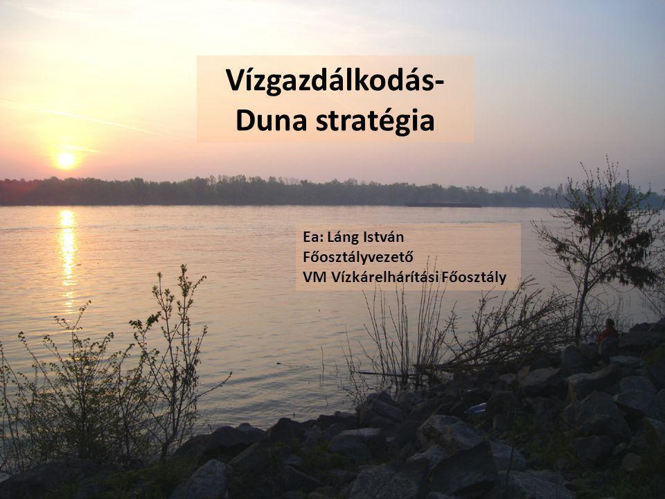Vízgazdálkodás- Duna stratégia