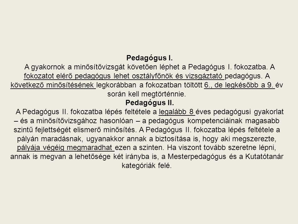 Pedagógus I.