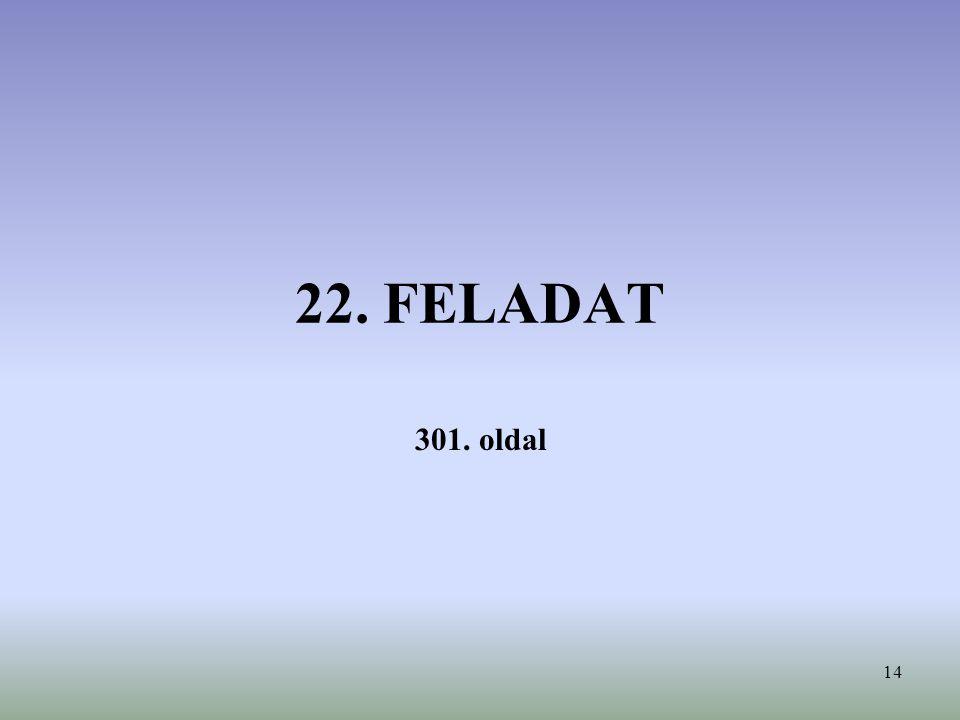 22. FELADAT 301. oldal
