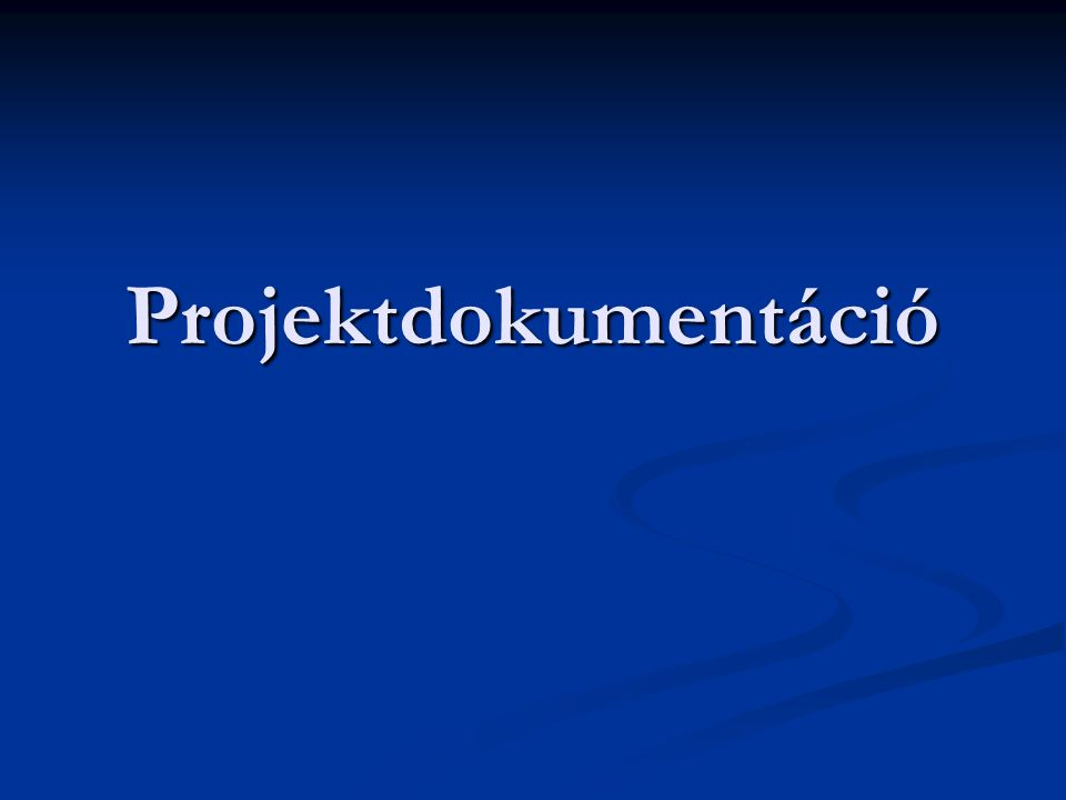Projektdokumentáció