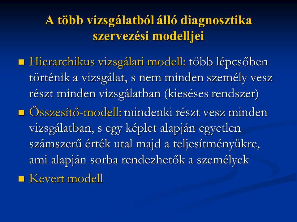 A több vizsgálatból álló diagnosztika szervezési modelljei