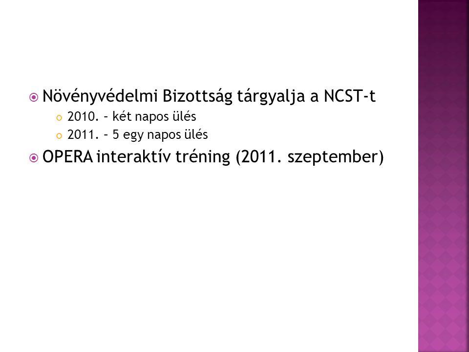 Növényvédelmi Bizottság tárgyalja a NCST-t