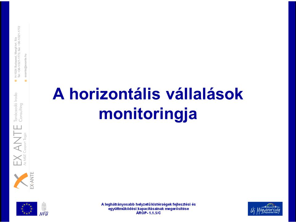 A horizontális vállalások monitoringja
