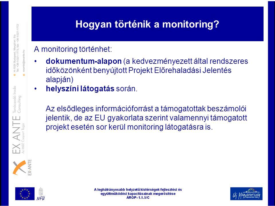 Hogyan történik a monitoring