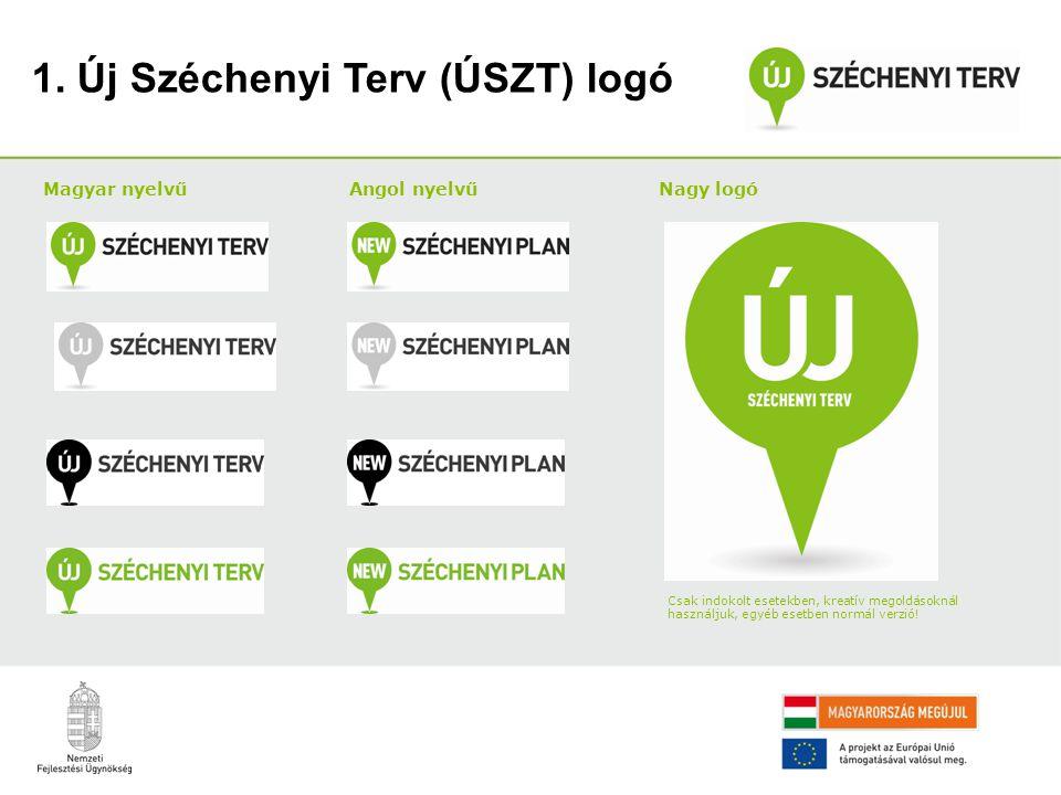 1. Új Széchenyi Terv (ÚSZT) logó