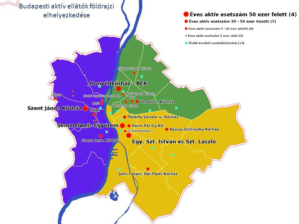 Budapesti aktív ellátók földrajzi elhelyezkedése