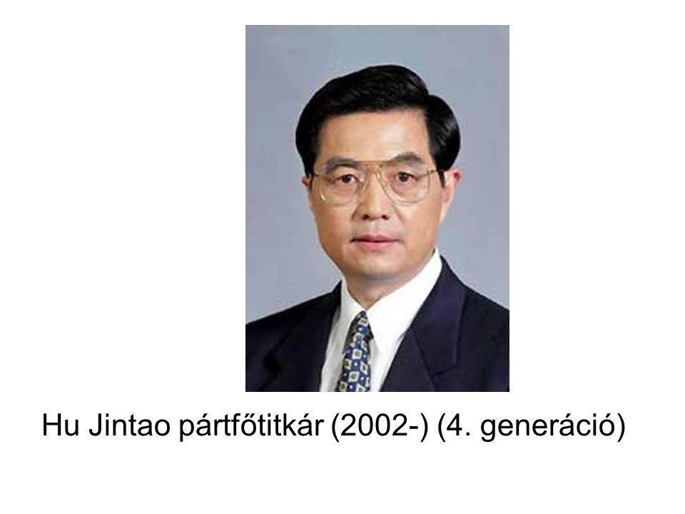 Hu Jintao pártfőtitkár (2002-) (4. generáció)