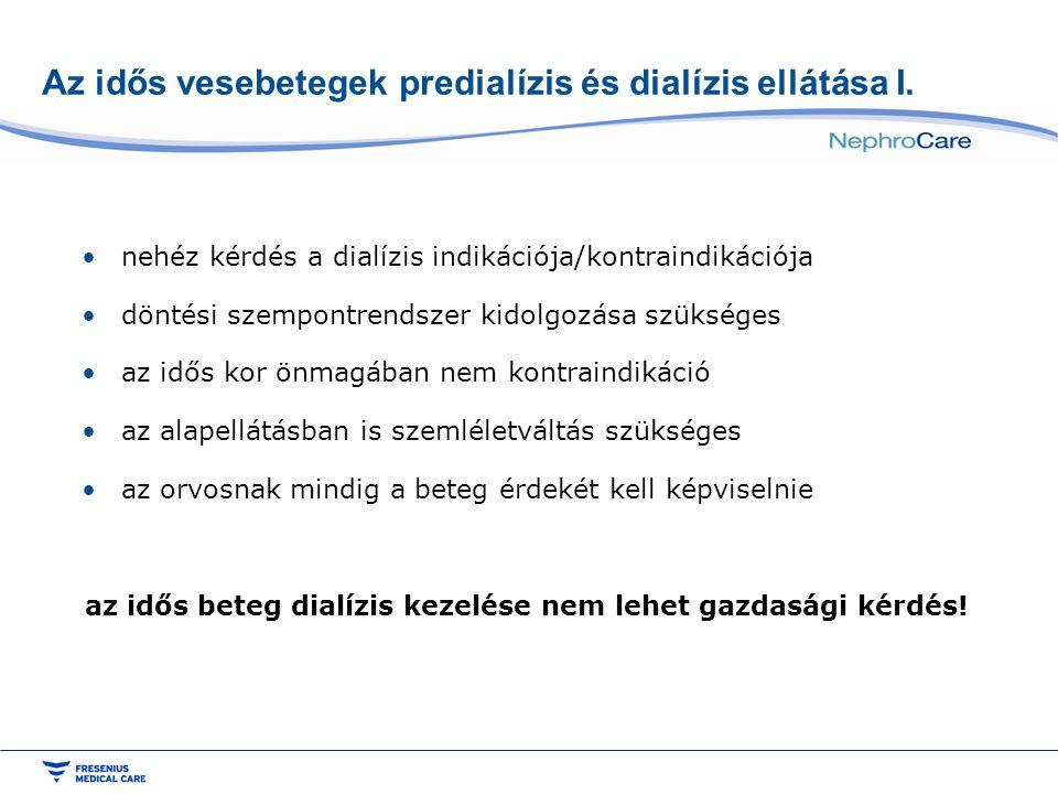 Az idős vesebetegek predialízis és dialízis ellátása I.